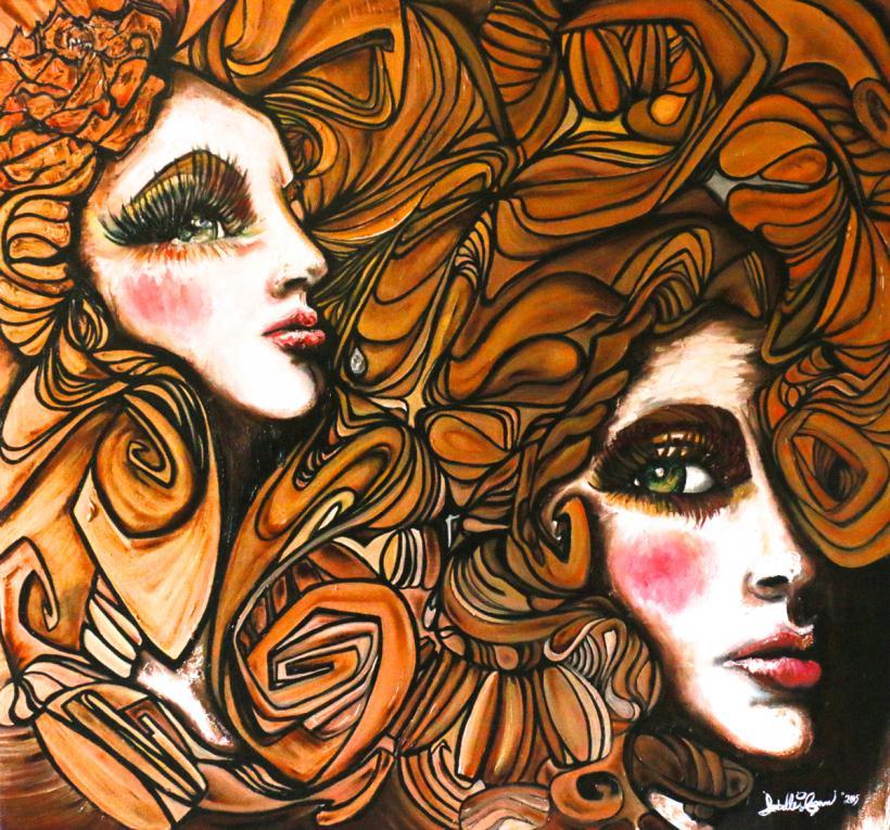 Dimension : À venir - Médium : Au pinceau/ Couteaux/ Doigts / Peinture à  L'Huile (aussi de l'Huile d'Or) sur toile avec cadre en bois