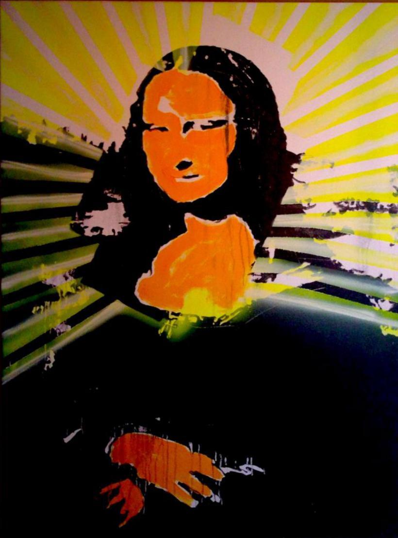 Jets d'encre et acrylique sur toile, 3 x 4 pieds, 01-2015.